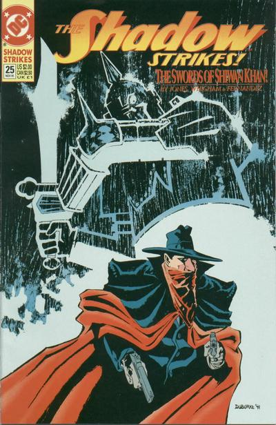 Cover for The Shadow Strikes! (DC, 1989 series) #25