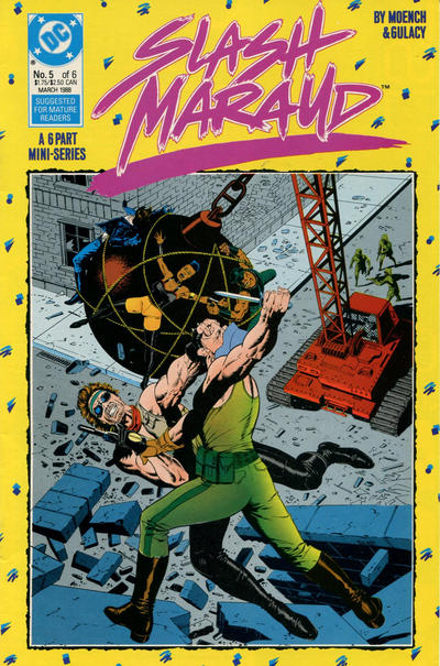 Cover for Slash Maraud (DC, 1987 series) #5