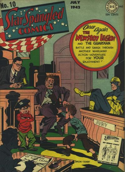 Cover for Star Spangled Comics (DC, 1941 series) #10
