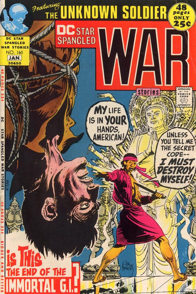 Cover for Star Spangled War Stories (DC, 1952 series) #160