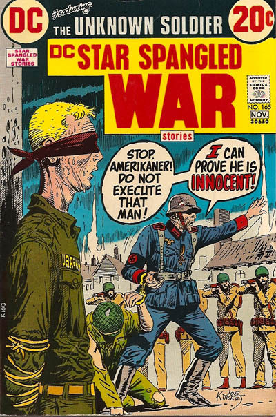 Cover for Star Spangled War Stories (DC, 1952 series) #165