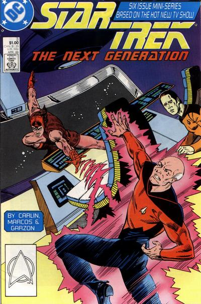 Cover for Star Trek: The Next Generation (DC, 1988 series) #3 [Newsstand]