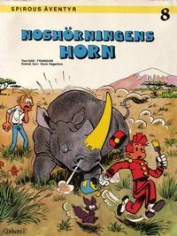 Cover Thumbnail for Spirous äventyr (Carlsen/if [SE], 1974 series) #8 - Noshörningens horn