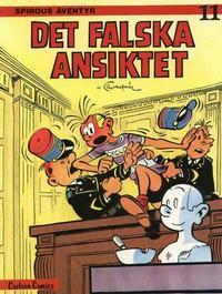 Cover Thumbnail for Spirous äventyr (Carlsen/if [SE], 1974 series) #11 - Det falska ansiktet