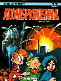 Cover Thumbnail for Spirous äventyr (Carlsen/if [SE], 1974 series) #23 - Atomspionerna