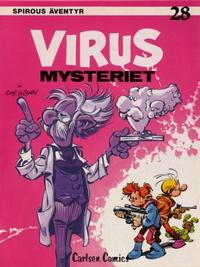 Cover Thumbnail for Spirous äventyr (Carlsen/if [SE], 1974 series) #28 - Virusmysteriet