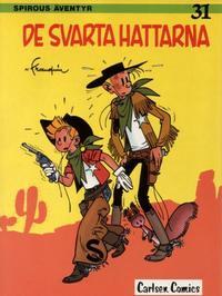 Cover Thumbnail for Spirous äventyr (Carlsen/if [SE], 1974 series) #31 - De svarta hattarna