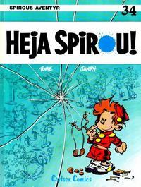 Cover Thumbnail for Spirous äventyr (Carlsen/if [SE], 1974 series) #34 - Heja Spirou!