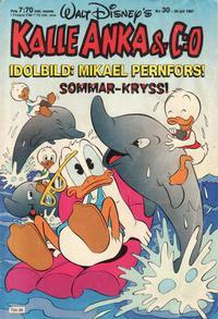 Cover Thumbnail for Kalle Anka & C:o (Hemmets Journal, 1957 series) #30/1987