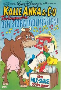 Cover Thumbnail for Kalle Anka & C:o (Hemmets Journal, 1957 series) #36/1987