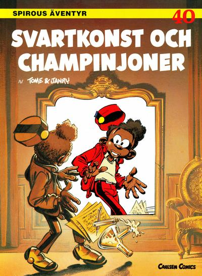 Cover for Spirous äventyr (Bonnier Carlsen, 1993 series) #40 - Svartkonst och champinjoner