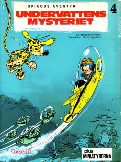 Cover for Spirous äventyr (Carlsen/if [SE], 1974 series) #4 - Undervattensmysteriet