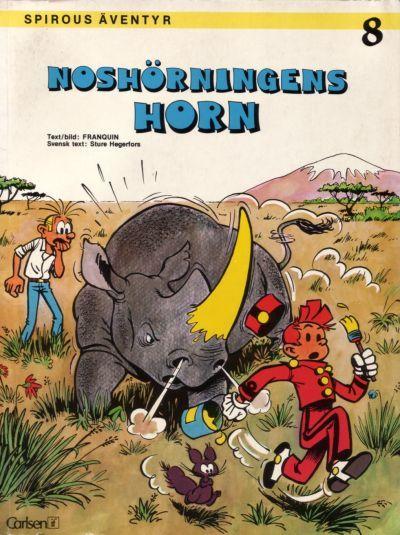 Cover for Spirous äventyr (Carlsen/if [SE], 1974 series) #8 - Noshörningens horn