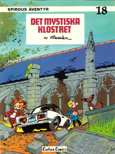 Cover for Spirous äventyr (Carlsen/if [SE], 1974 series) #18 - Det mystiska klostret