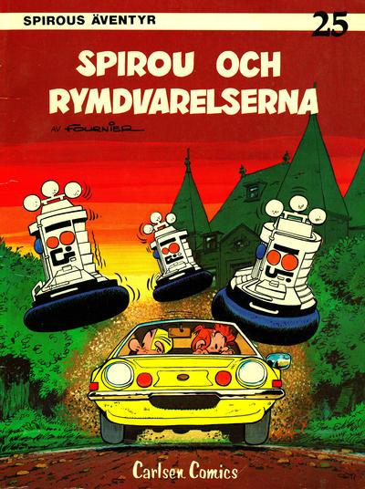 Cover for Spirous äventyr (Carlsen/if [SE], 1974 series) #25 - Spirou och rymdvarelserna [2:a upplagan, 1989]