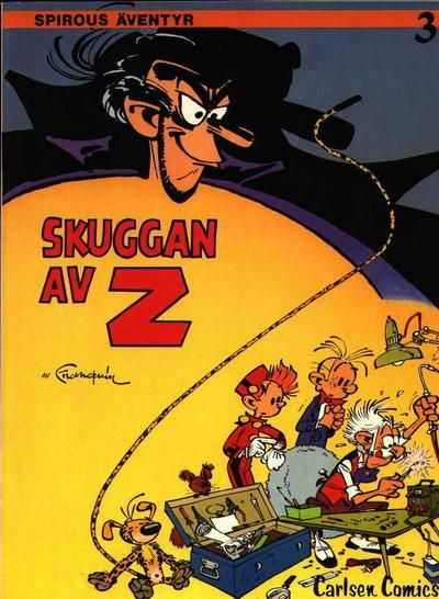 Cover for Spirous äventyr (Carlsen/if [SE], 1974 series) #3 - Skuggan av Z [2:a upplagan, 1984]