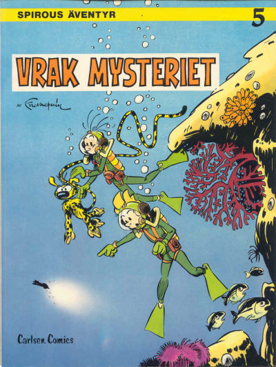 Cover for Spirous äventyr (Carlsen/if [SE], 1974 series) #5 - Vrakmysteriet [2:a upplagan, 1984]