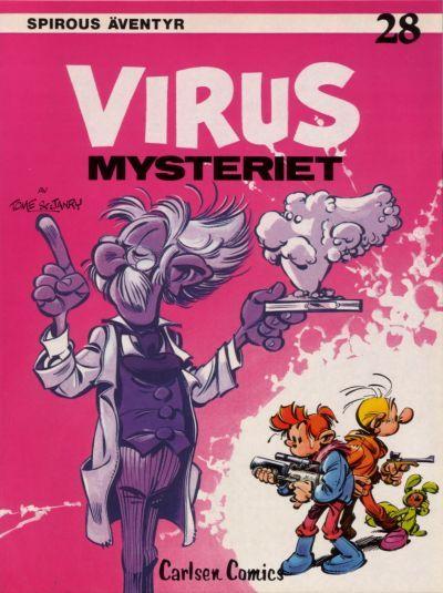 Cover for Spirous äventyr (Carlsen/if [SE], 1974 series) #28 - Virusmysteriet
