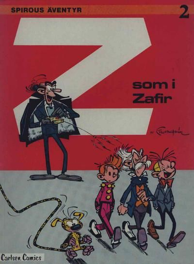 Cover for Spirous äventyr (Carlsen/if [SE], 1974 series) #2 - Z som i Zafir