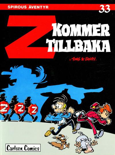 Cover for Spirous äventyr (Carlsen/if [SE], 1974 series) #33 - Z kommer tillbaka