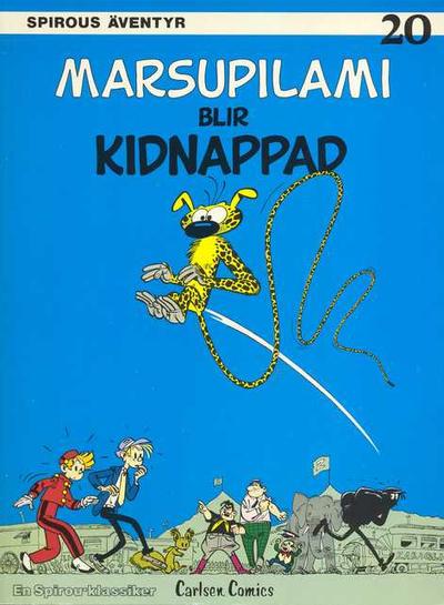 Cover for Spirous äventyr (Carlsen/if [SE], 1974 series) #20 - Marsupilami blir kidnappad