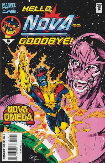 Cover for Nova (Marvel, 1994 series) #18