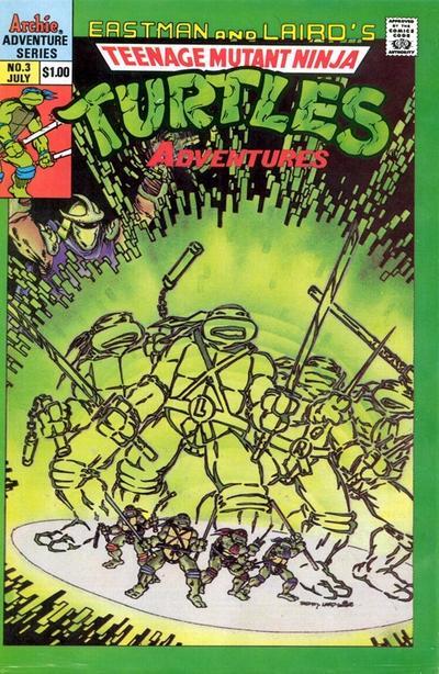 Cover for Teenage Mutant Ninja Turtles Adventures (Archie, 1989 series) #3