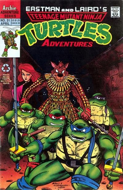 Cover for Teenage Mutant Ninja Turtles Adventures (Archie, 1989 series) #31 [Newsstand Edition]