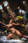 Cover Thumbnail for Pellucidar: Wings of Death (2019 series) #2 [Virgin Cover]