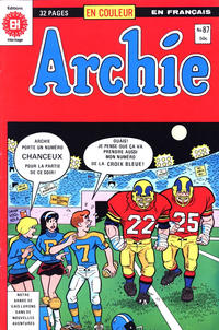 Cover Thumbnail for Archie (Editions Héritage, 1971 series) #87