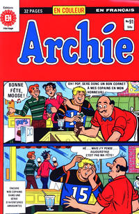 Cover Thumbnail for Archie (Editions Héritage, 1971 series) #91