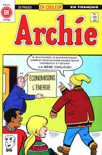 Cover Thumbnail for Archie (Editions Héritage, 1971 series) #113