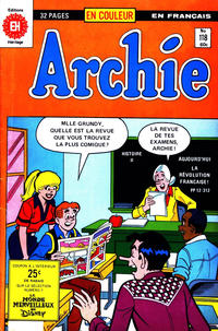 Cover Thumbnail for Archie (Editions Héritage, 1971 series) #118