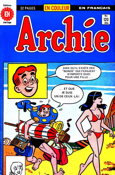 Cover for Archie (Editions Héritage, 1971 series) #120