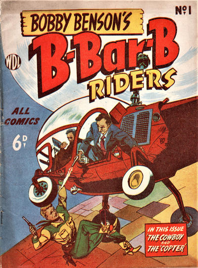 Cover for Bobby Benson's  B-Bar-B Riders (World Distributors, 1950 series) #1