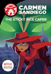 Cover for Carmen Sandiego (Houghton Mifflin, 2019 series) #[1] - The Sticky Rice Caper