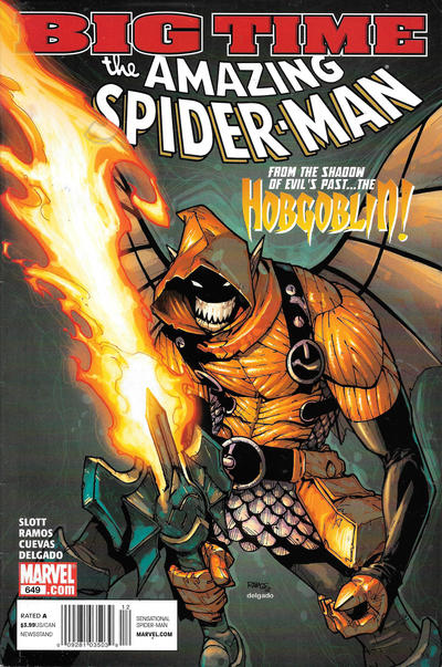 Cover for The Amazing Spider-Man (Marvel, 1999 series) #649 [Direct Edition]