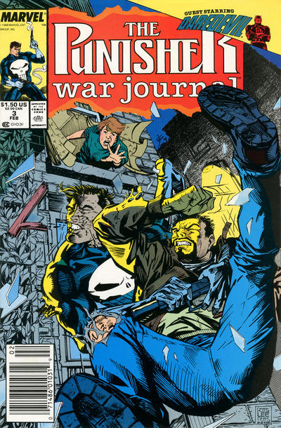 Cover for The Punisher War Journal (Marvel, 1988 series) #3 [Direct]