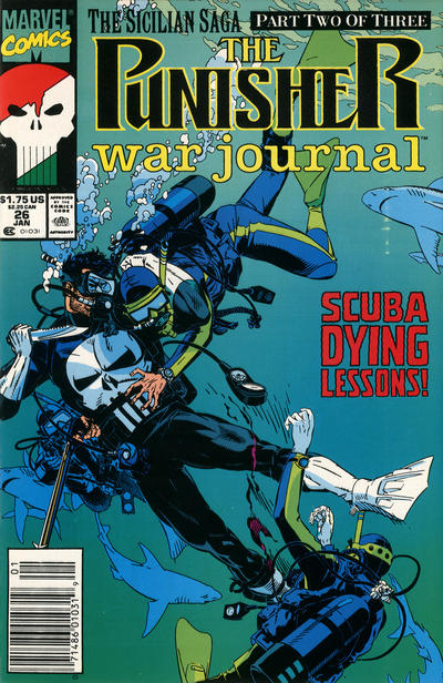 Cover for The Punisher War Journal (Marvel, 1988 series) #26 [Direct]