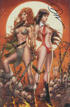 Cover Thumbnail for Vampirella/Red Sonja (2019 series) #2 [Billy Tucci CE Exclusive Halloween Virgin Art]