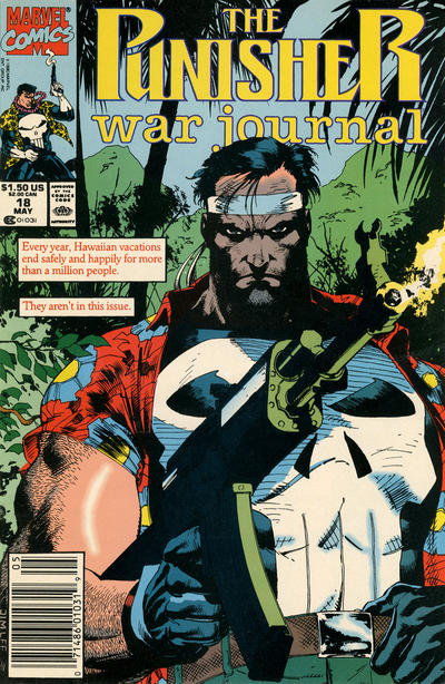 Cover for The Punisher War Journal (Marvel, 1988 series) #18 [Newsstand]