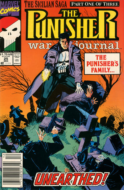 Cover for The Punisher War Journal (Marvel, 1988 series) #25 [Newsstand]