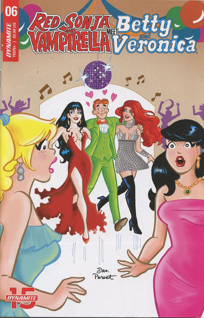 Cover for Red Sonja and Vampirella Meet Betty and Veronica (Dynamite Entertainment, 2019 series) #6 [Cover D Dan Parent]