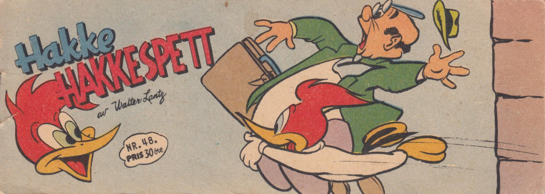 Cover for Hakke Hakkespett (Serieforlaget / Se-Bladene / Stabenfeldt, 1957 series) #48/1958
