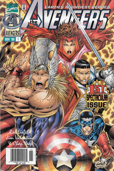 Cover for Avengers (Marvel, 1996 series) #1 [Yaep Cover]