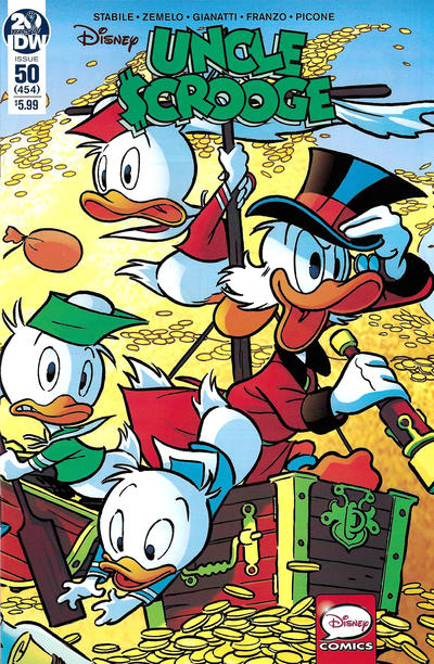 Cover for Uncle Scrooge (IDW, 2015 series) #50 / 454 [Retailer Incentive Cover - Andrea Freccero]