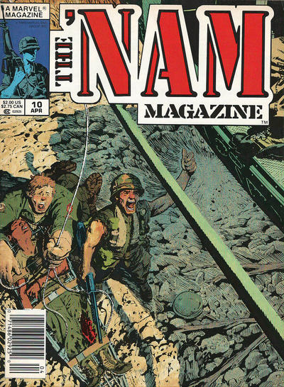Cover for The 'Nam Magazine (Marvel, 1988 series) #10 [Newsstand]