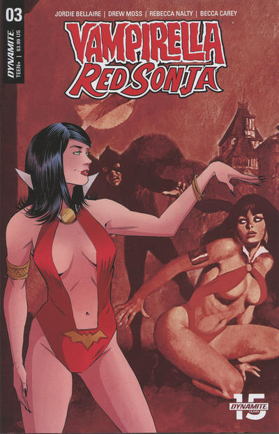 Cover for Vampirella/Red Sonja (Dynamite Entertainment, 2019 series) #3 [Cover E Drew Moss]