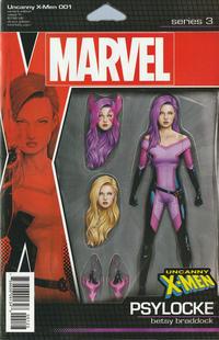 Cover Thumbnail for Uncanny X-Men (Marvel, 2019 series) #1 (620) [John Tyler Christopher Action Figure (Psylocke)]