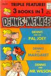 Cover for Dennis the Menace Giant (Hallden; Fawcett, 1958 series) #12 - Dennis the Menace Triple Feature!